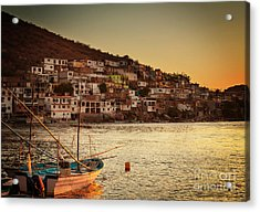Fishing Boats In Mexico Acrylic Print