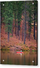 Fishing Fenton Lake Acrylic Print