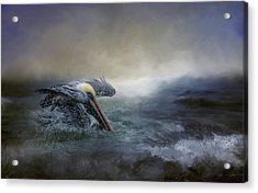 Fishing In The Storm Acrylic Print