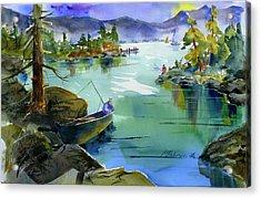 Fishing Lake Tahoe Acrylic Print
