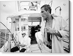 Fishing With Paul Newman Acrylic Print