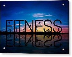 Fitness Concept Acrylic Print