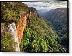 Fitzroy Falls Southern Highlands Nsw Acrylic Print by Australian Land, City, People Scape Photographer