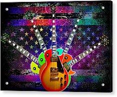 Five Guitars Acrylic Print