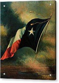 Flag Of Texas, 1918 Acrylic Print