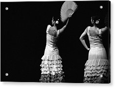 Flamenco Lace Fan Acrylic Print by T-immagini