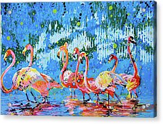 Flamingo Pat Party Acrylic Print