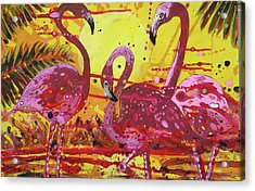 Flamingo Sunset Acrylic Print