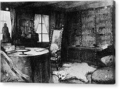 Flauberts Study Acrylic Print by Hulton Archive