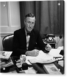 Fleming At Desk Acrylic Print by Express