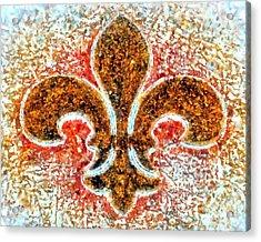 Fleur De Lis Gold Dust Acrylic Print