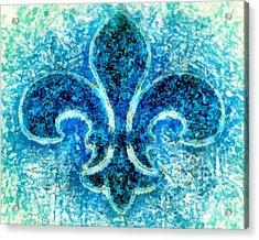 Fleur De Lis Turquoise - Par Le Mer Acrylic Print