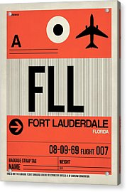 Fll Fort Lauderdale Luggage Tag I Acrylic Print