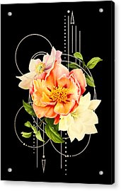 Acrylic Print featuring the digital art Floral Abstraction by Bee-Bee Deigner