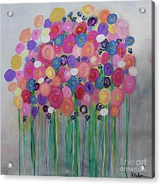 Floral Balloon Bouquet Acrylic Print