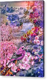 Floral Embedded Acrylic Print