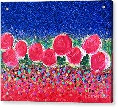 Floral Kaleidoscope Acrylic Print