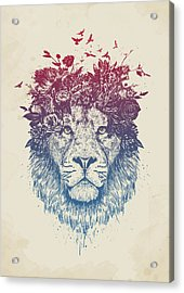Floral Lion IIi Acrylic Print