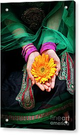 Acrylic Print featuring the photograph Floral Offering by Tim Gainey