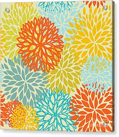 Floral Seamless Pattern Acrylic Print