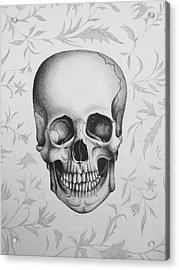 Floral Skull Acrylic Print
