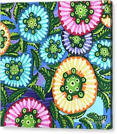 Floral Whimsy 6 Acrylic Print