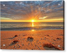 Acrylic Print featuring the photograph Florida Sunrise At Delray Beach by Juergen Roth
