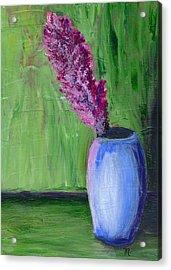 Flower-blue Vase Acrylic Print