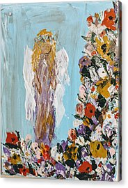 Flower Child Angel Acrylic Print