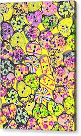 Flower Power Patterns Acrylic Print