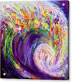 Flower Wave Acrylic Print
