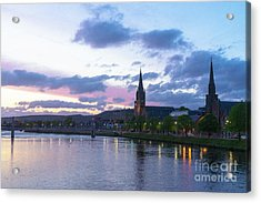 Flowing Down The River Ness Acrylic Print