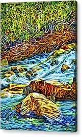 Acrylic Print featuring the digital art Flowing Inspiration by Joel Bruce Wallach