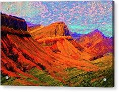 Flowing Rock Acrylic Print