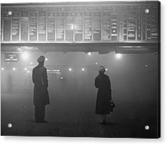 Fog At Liverpool Street Acrylic Print by Edward Miller