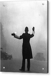 Fog Police Acrylic Print by Hulton Archive