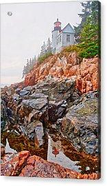 Foggy Bass Harbor Lighthouse Acrylic Print