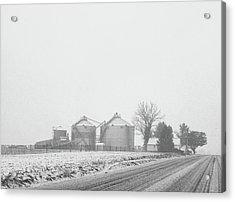 Foggy Farm Acrylic Print