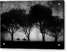 Foggy Morning Ride Acrylic Print