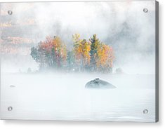 Acrylic Print featuring the photograph Foliage Burst At Leffert's Pond Vermont by Expressive Landscapes Fine Art Photography by Thom
