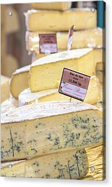 Food Cheese, Food Market, Dijon Acrylic Print by Jim Engelbrecht