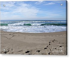 Footprints By The Sea Acrylic Print