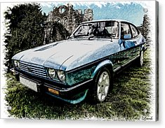 Ford Capri 3.8i Pencil V2 Acrylic Print