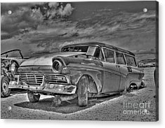 Ford Country Squire Wagon - Bw Acrylic Print