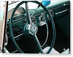 Acrylic Print featuring the photograph 1955 Ford Fairlane Steering Wheel by Debi Dalio