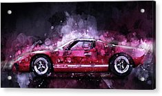 Ford Gt 40 Night Moves Acrylic Print