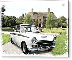 Ford 'lotus' Cortina Acrylic Print