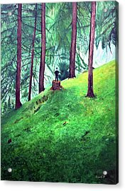 Forest Through The Trees Acrylic Print