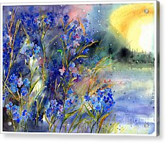 Forget-me-not Watercolor Acrylic Print