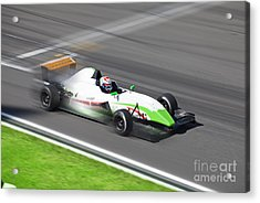 Formula 2.0  Race Car Racing On Speed Acrylic Print